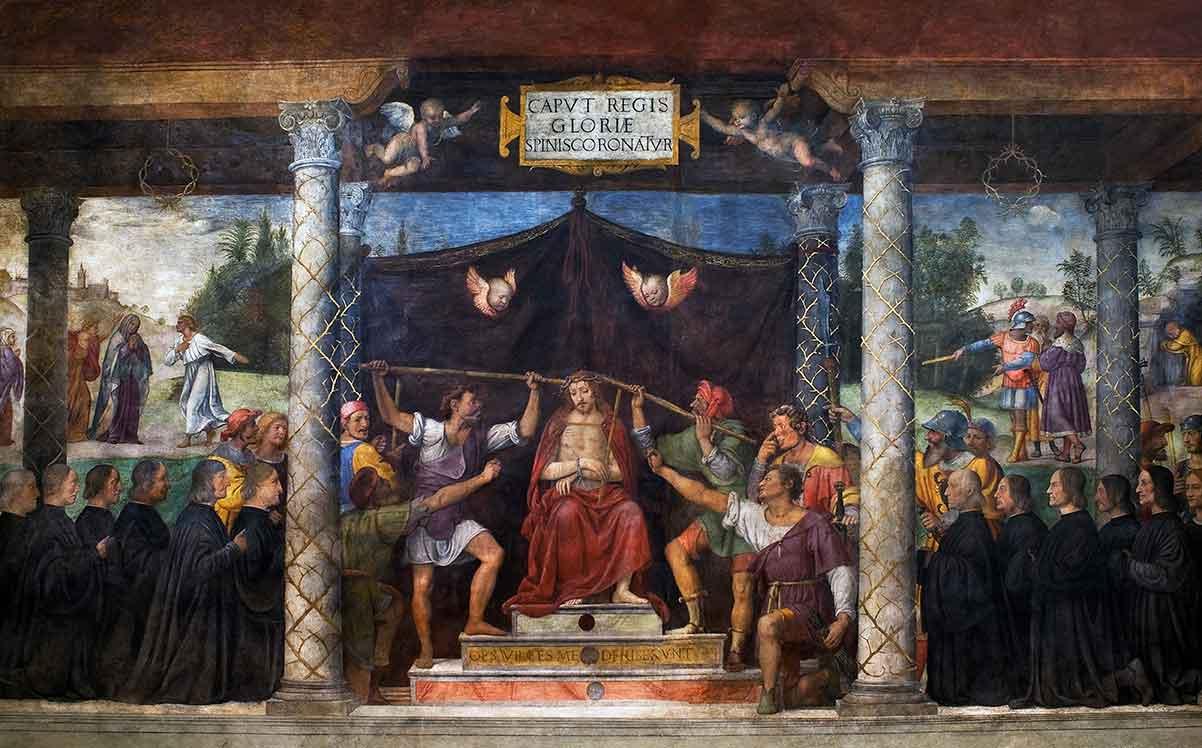 <p>Bernardino Luini<br /> <em>Incoronazione di spine</em><br /> Affresco</p>