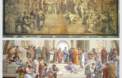 THE CARTOON FOR THE SCHOOL OF ATHENS AND THE STANZA DELLA SEGNATURA