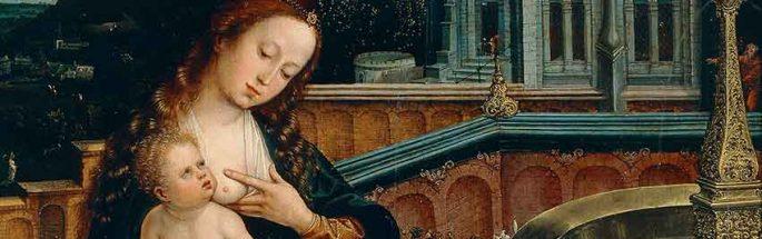 Madonna che allatta il Bambino alla fontana
