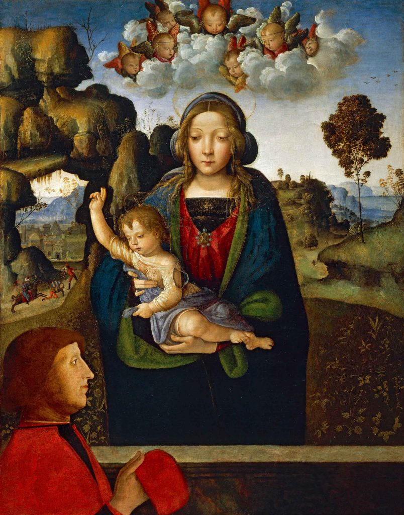 The Madonna and Child with a Worshipper