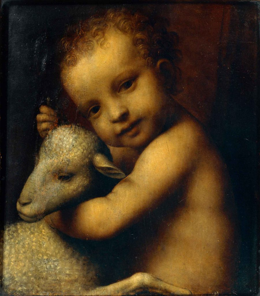 The infant Jesus with a Lamb