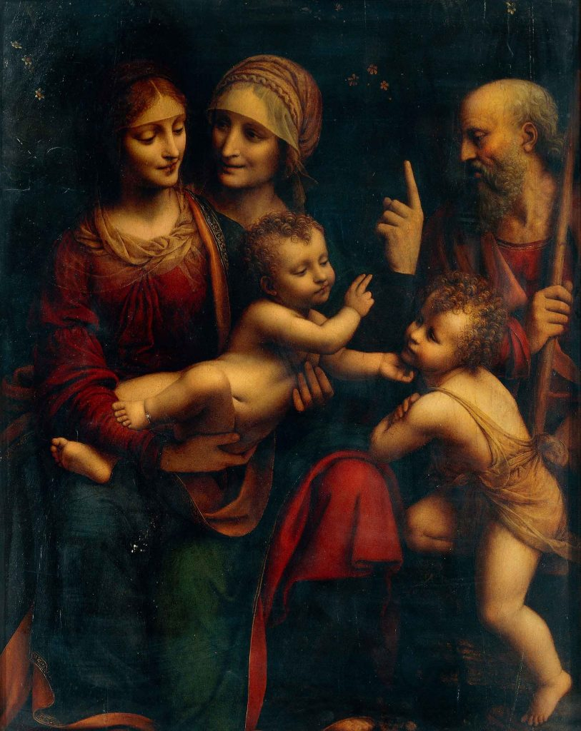 The Holy Family with Saints Anne and John
