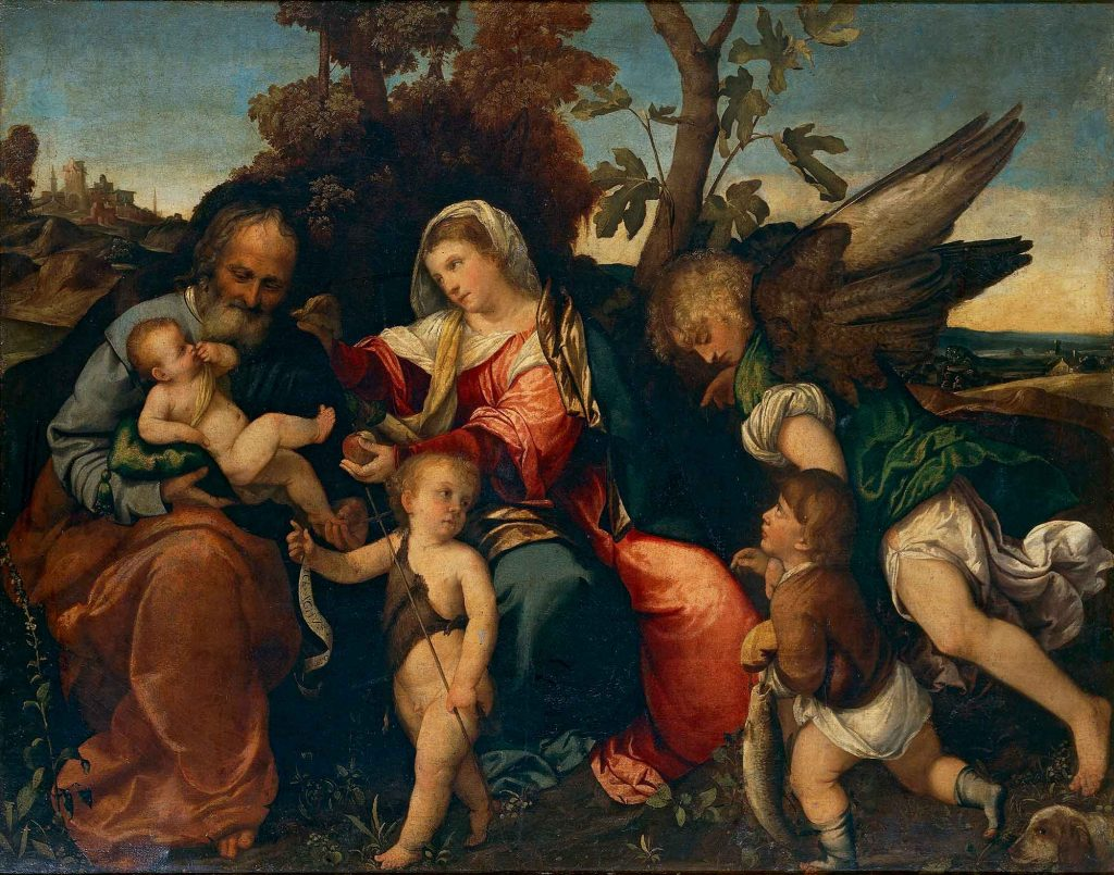 The Holy Family with Sain John, Tobias and the Archangel Raphael