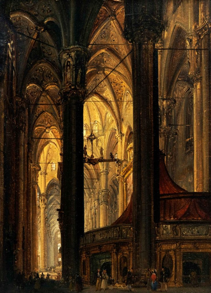 View of the Interior of the Duomo