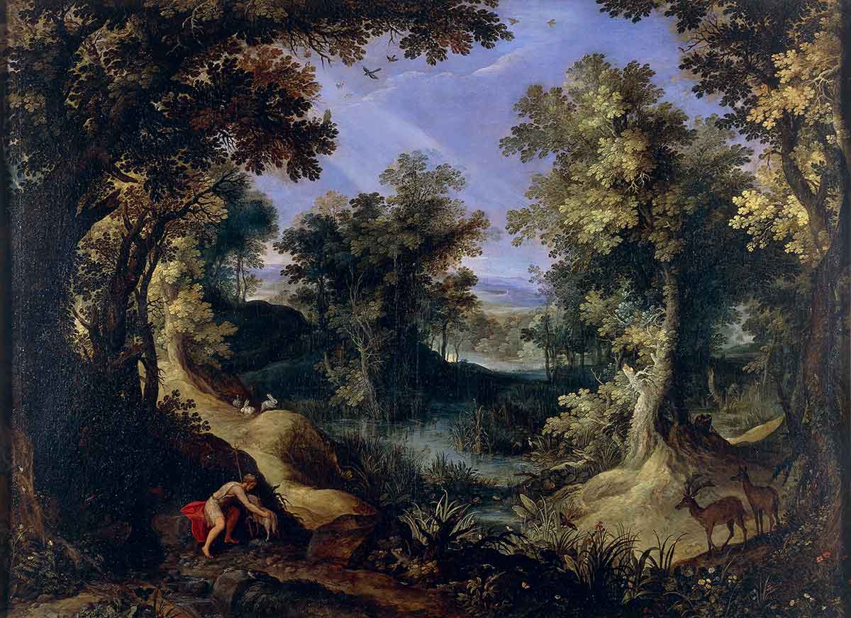 <p><em>Landscape with the Infant St. John</em>, Paul Bril (1554-1626), 1590-1599, oil on canvas, 86 × 131 cm</p>