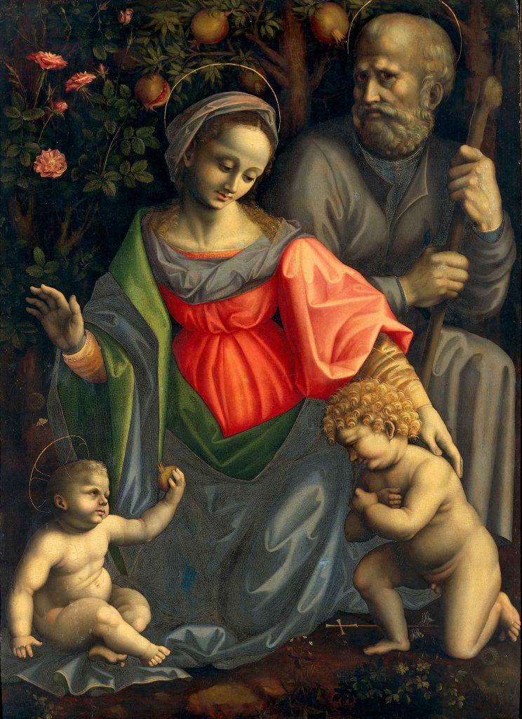 Sacra Famiglia con san Giovanni