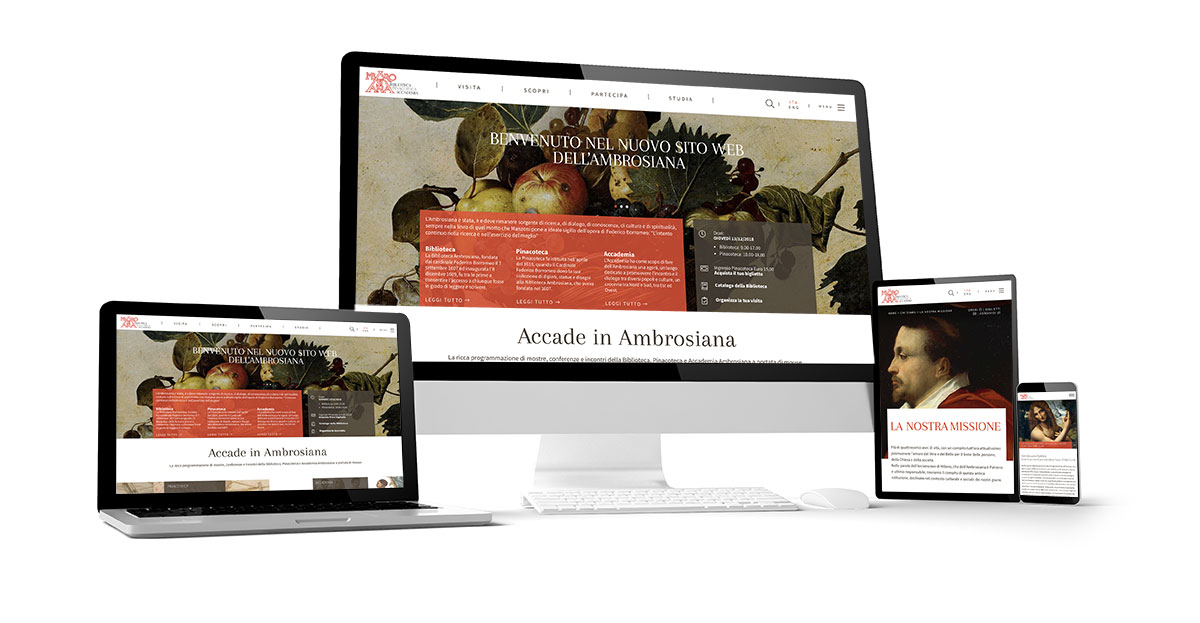WELCOME TO THE NEW WEBSITE OF THE AMBROSIANA