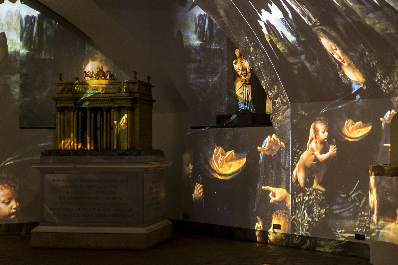 Leonardo D Exhibition : The genius experience. leonardo and warhol veneranda biblioteca