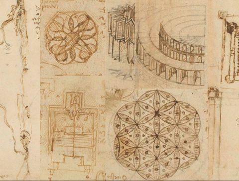 Leonardo da Vinci: Studi e disegni del periodo francese dal Codice Atlantico