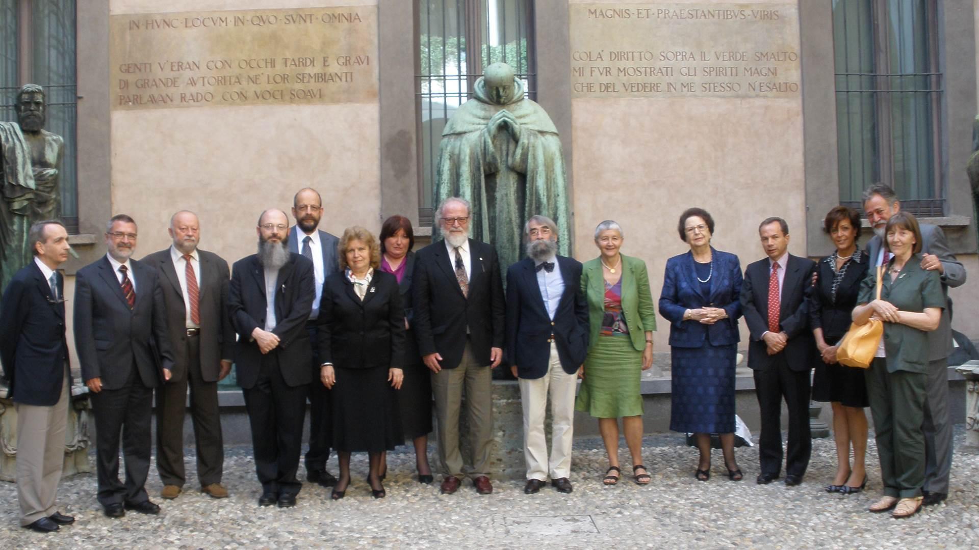 <p>Gli Accademici Fondatori della Classe di Slavistica (2009)</p>