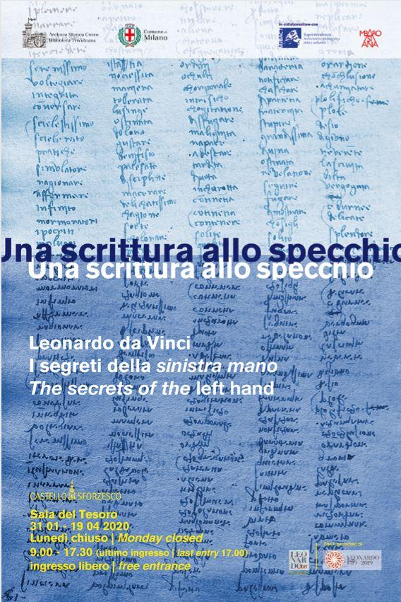 Mostra al Castello Sforzesco | Una scrittura allo specchio. I segreti della 'sinistra mano di Leonardo'