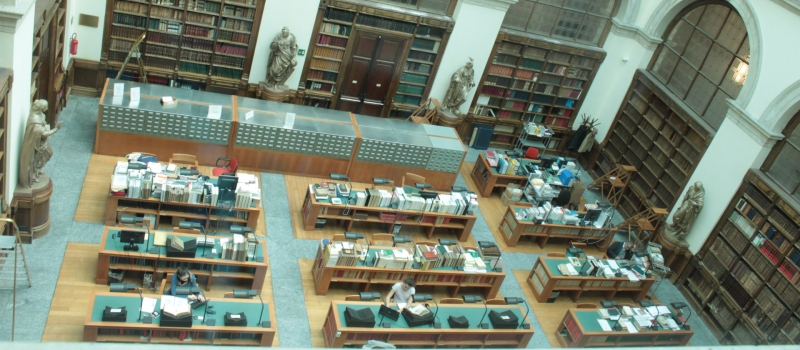 THE READING ROOM OF THE LIBRARY REOPENS