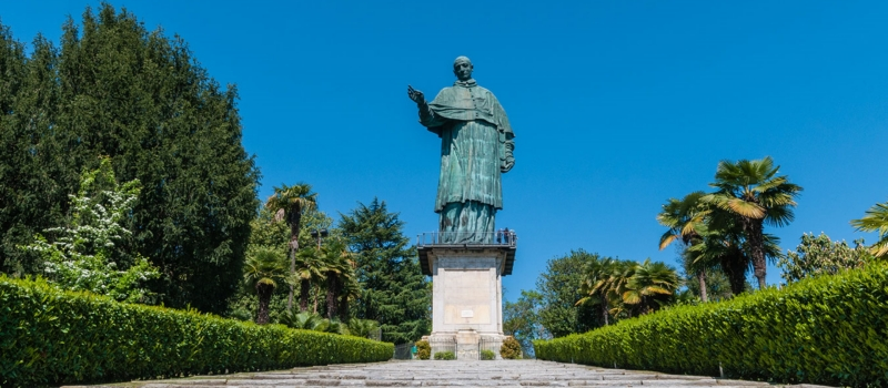 August 2020: guided tours to the Statue of Saint Charles in Arona