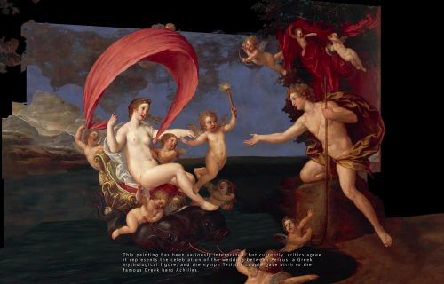 <em>THE WEDDING OF PELEUS AND THETIS</em><BR>FRANCESCO ALBANI