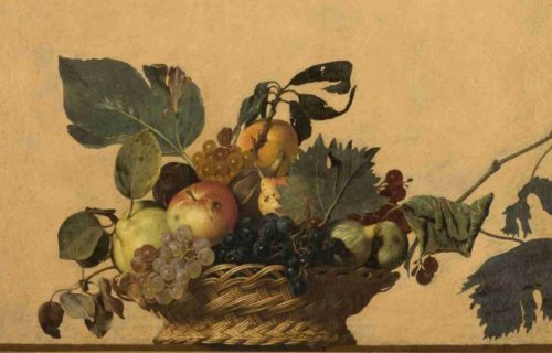 <em>BASKET OF FRUIT</em><BR>Caravaggio