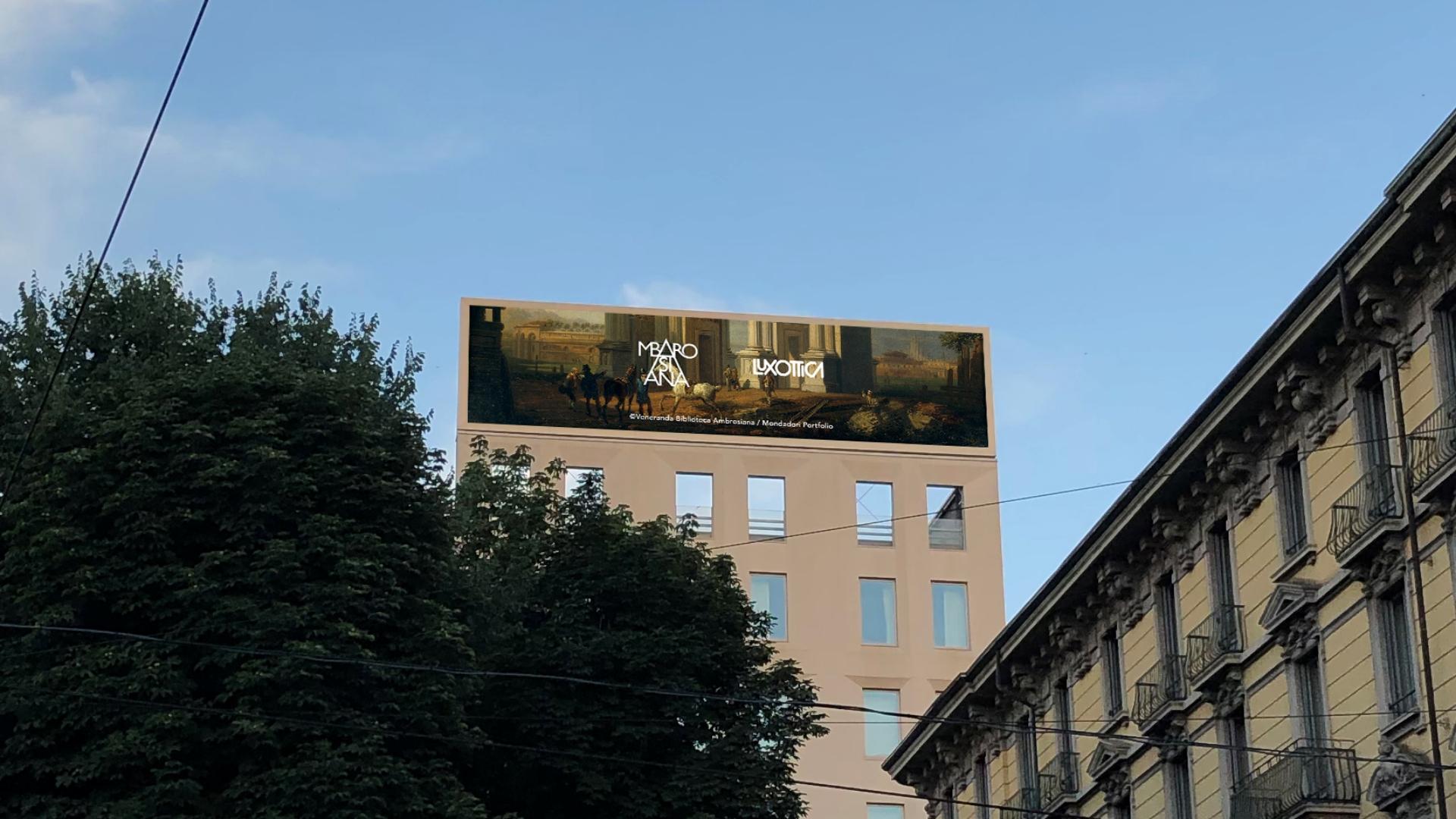 Le opere della Pinacoteca Ambrosiana sugli schermi di Luxottica a Milano