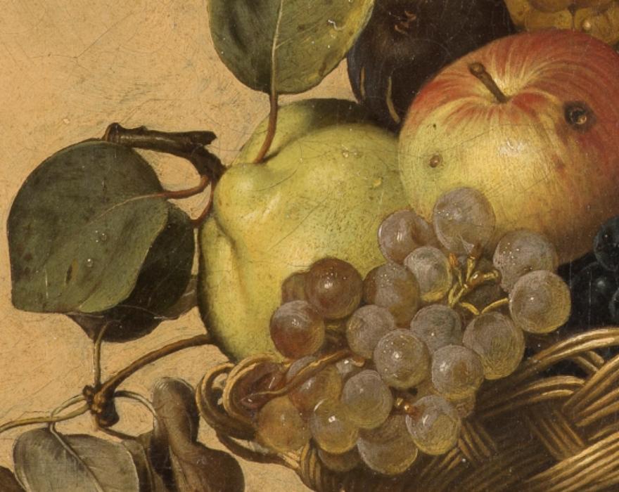 <p>Michelangelo Merisi, detto Caravaggio<br /> <em>Canestra di frutta</em>, dettaglio<br /> Olio su tela</p>