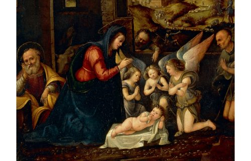 <em>ADORATION OF THE SHEPHERDS</em><BR>Martino Piazza