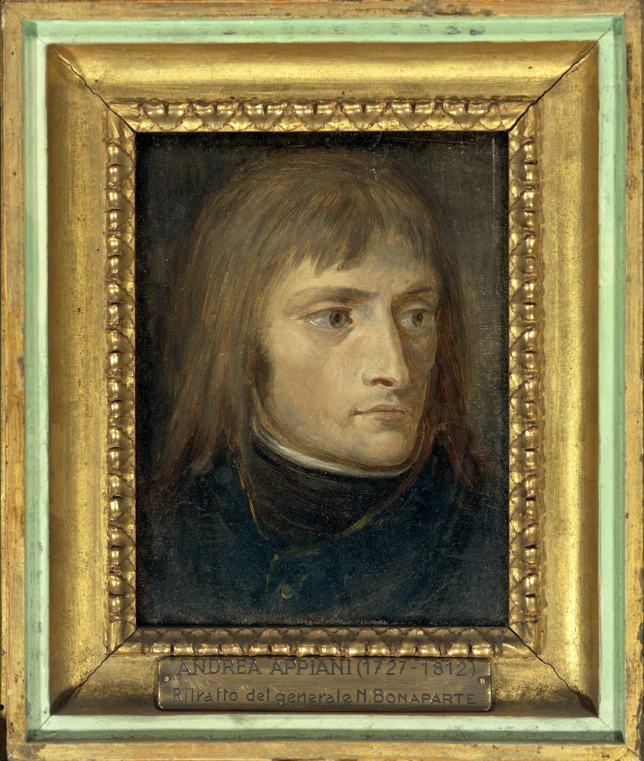 <p>Andrea Appiani,<br /> <em>Ritratto di Napoleone</em><br /> Olio su tavola</p>